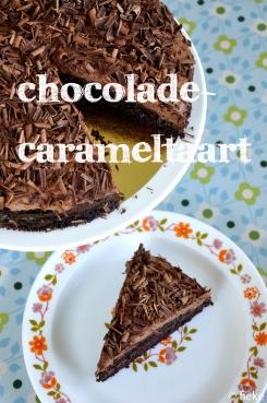 Chocolade-carameltaart - fiekefatjerietjes