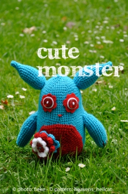 80 - Cute Monster - fiekefatjerietjes