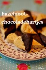 Hazelnoot-chocoladehartjes - Fiekefatjerietjes